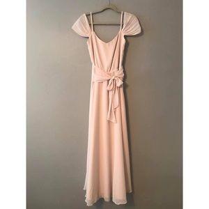 Joanna August Floor-Length, Draped-Sleeve Dress